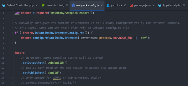 Using Symfony Webpack-Encore-Bundle with Pimcore